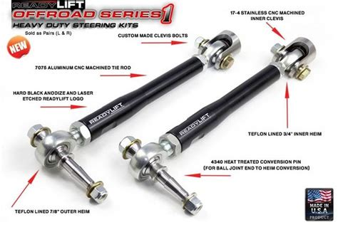 Tie Rod End Ford Laser 1 Set Kiri Kanan readylift road series 1 heavy duty steering kit for 09 12 ford f 150 2wd 4wd