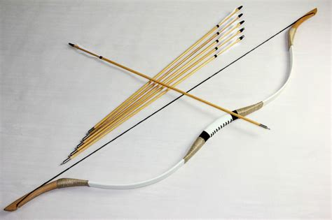 Handmade Longbow - 50lbs traditional archery mongolian handmade cow leather