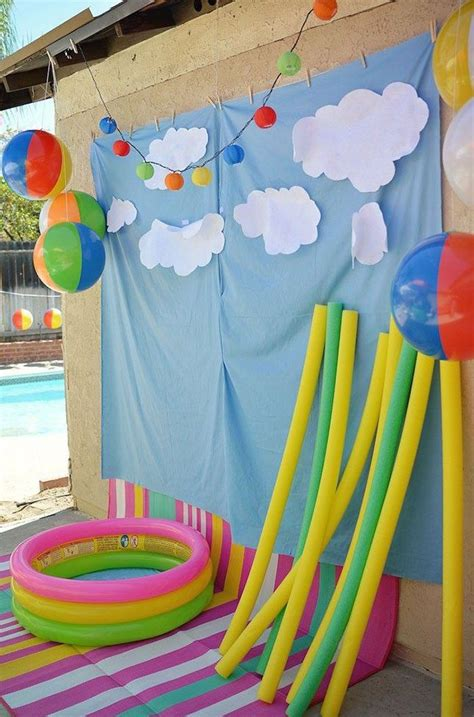 pool theme decorations best 25 kid pool ideas on pool