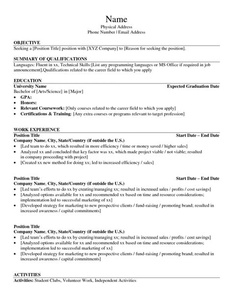 list of technical skills for resume sles of resumes