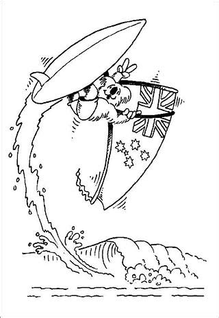 surfing santa coloring page australia surfing santa coloring page coloring pages