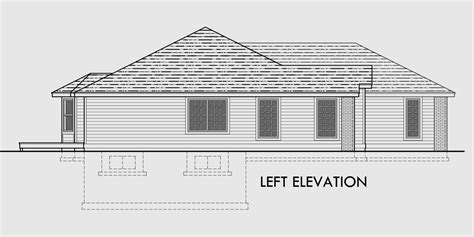 one level house plans with 3 car garage ranch house plan 3 car garage basement storage
