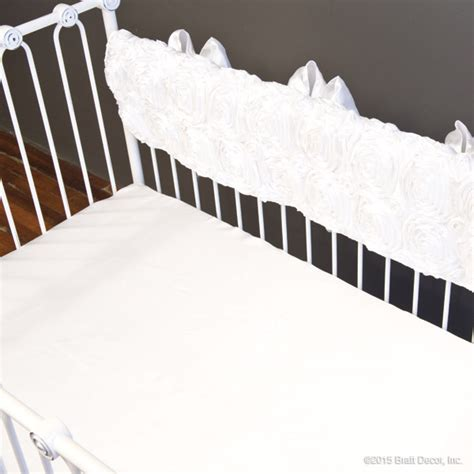 White Crib Rail Cover by Gias Crib Rail Cover White