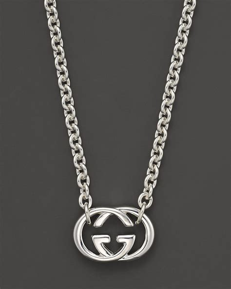 Gemstone Home Decor Gucci Sterling Silver Quot Britt Quot Necklace 18 Quot Bloomingdale S