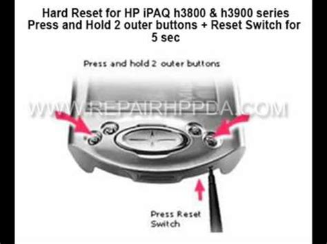 hard reset hp deskjet d2660 how to soft hard reset for hp ipaq h3870 h3875 h3835