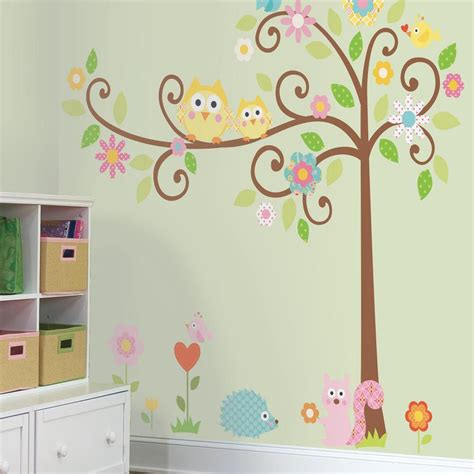 how to stick wall stickers roommates rmk1439slm scroll tree peel stick