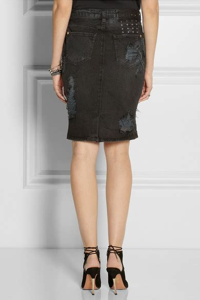 ksubi distressed denim skirt net a porter