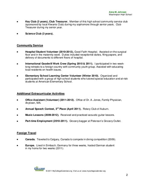 volunteer and community service on resume custom term