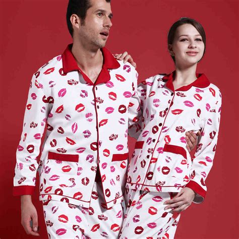 His And Hers Matching His Hers Matching Couples Cotton Pajamas Sleepwear Sets