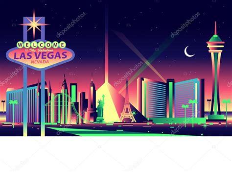 paint nite las vegas las vegas skyline stock vector 169 mauromod 69291121