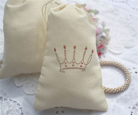 Princess Themed Baby Shower Favors by Muslin Favor Bags Baby Shower Birthday Favors Sted Princess Crowns Pink