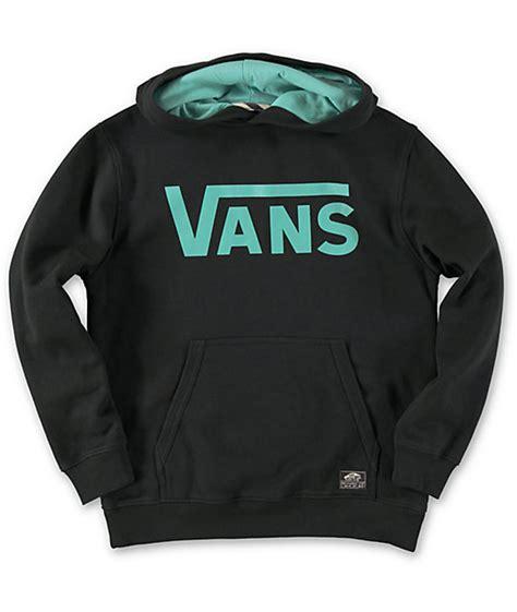 Hodie Sweter Vans Pulka Skate Black vans boys classic black teal pullover hoodie zumiez