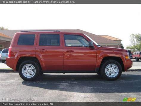 orange jeep patriot 2010 jeep patriot sport 4x4 in sunburst orange pearl photo