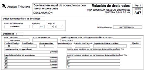 formato de excel para calculo de declaraciones mensuales 2016 qu 233 es el modelo 347 declaraci 243 n anual de operaciones con