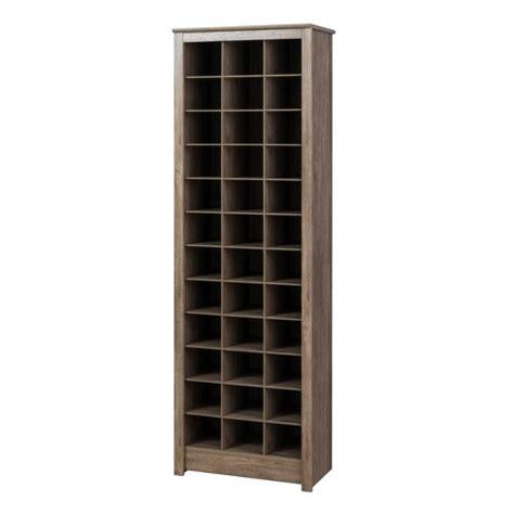 space saving shoe storage cabinet space saving shoe storage cabinet drifted gray prepac