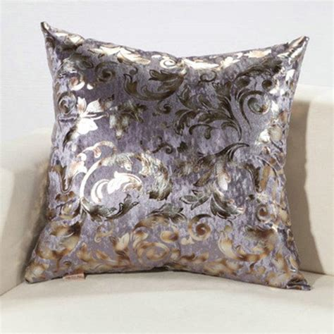 luxury throw pillows for sofas luxury silver floral cushion throw pillow case cover sofa