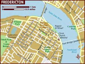 fredericton canada map map of fredericton