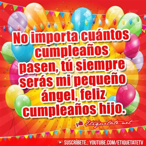imagenes de happy birthday para hijo 22 best images about felicitaciones de cumplea 241 os on
