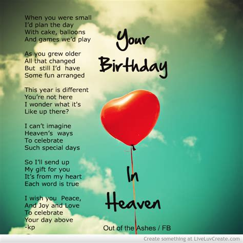 Birthday Quotes For Heaven Birthday In Heaven Quotes To Post On Facebook Quotesgram