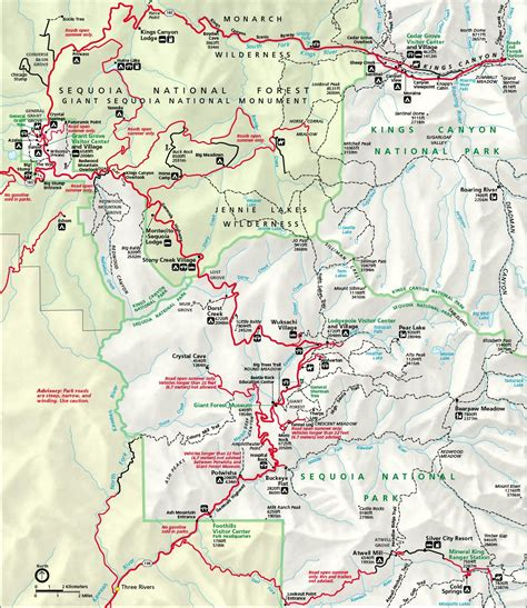 sequoia national park map directions sequoia national parks us autos post
