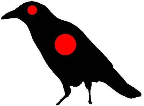 printable crow targets animal paper targets images