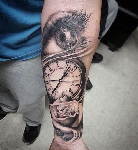 rose eye tattoo eye clock done 7 months ago today