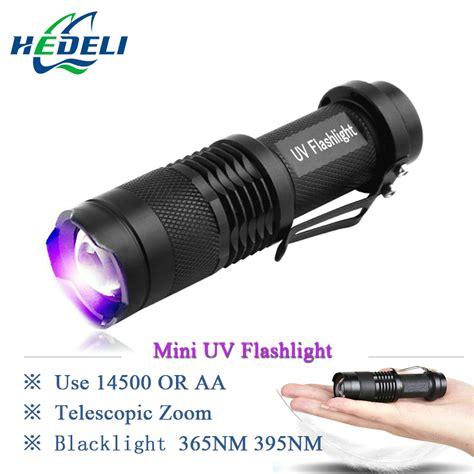 Mini Senter Led Ultraviolet 395nm Mini Uv Flashlight Cree Led Torch Wavelength 365nm Blacklight 395nm Violet Light Uv Black Light