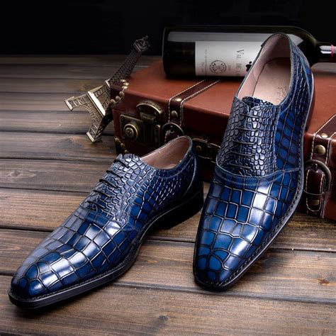 Handmade Mens Leather Shoes - 2016 luxury mens goodyear welted shoes italian made