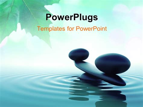 Powerpoint Template Balance Stone In A Zen Water With Zen Presentation Templates