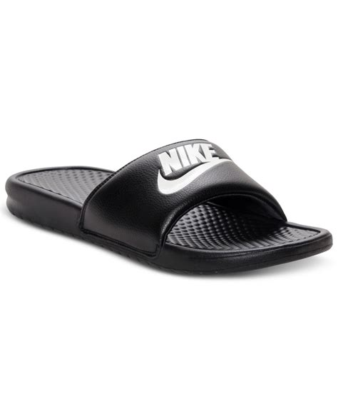 finish line sandals nike s benassi just do it slide sandals from finish