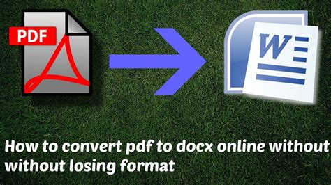 Convert Pdf To Word Without Losing Formatting | how to convert pdf to docx online without losing format