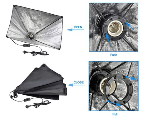 Paket Softbox jual paket lu studio softbox e 27 breket 1 set