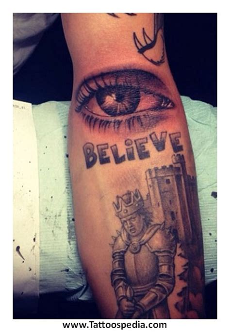 justin bieber castle tattoo tony baxter