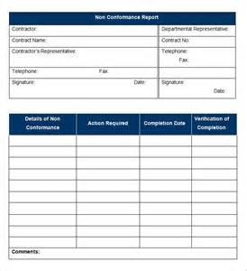 Non Conformance Report Template Word Facilities Management Report Template Ebook Database