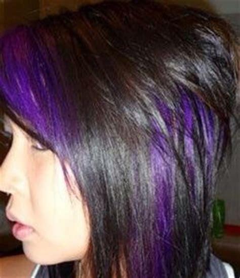 cute purple highlights cute wild hair peek a boo s trusper