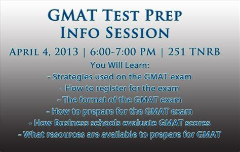 Mba Prep Deadlines by Byu Marriott School Gmat Test Prep Info Session Home