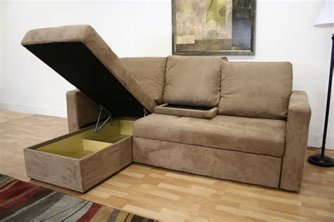 Convertible Sofa Bed by Baxton Studio Linden Microfiber Convertible Sectional Sofa Bed
