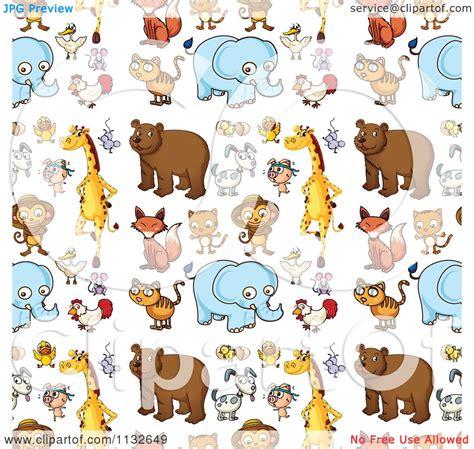 cute animal pattern background cartoon of a seamless cute animal background pattern 1