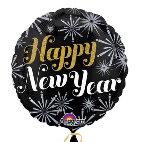Balon Foil Happy New Year Bulat balloons sale and clearance partyrama