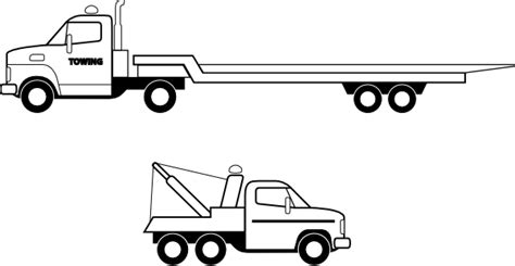 flat bed coloring page flatbed truck clip at clker vector clip