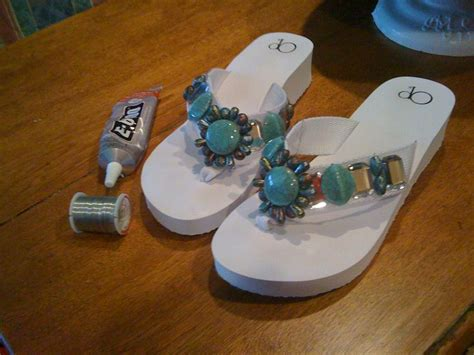 walmart jewelry section just made these for 15 cheap walmart flip flops