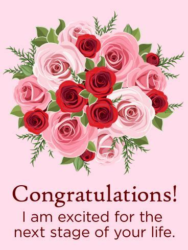Rose Congratulations Card   Birthday & Greeting Cards by Davia