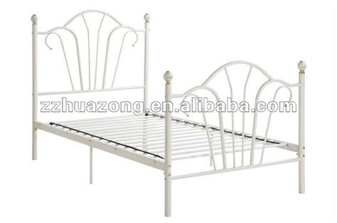 white metal twin bed frame modern white steel metal princess style girls kids twin