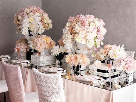 Rustic elegant decor, blush and ivory wedding table