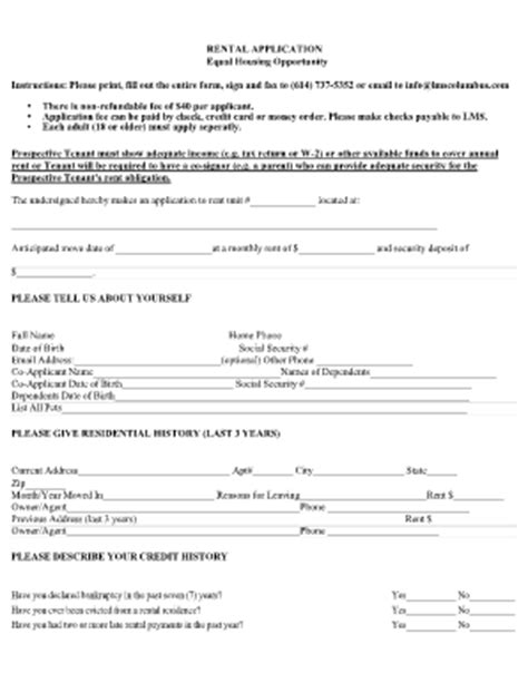 online rental application forms and templates fillable