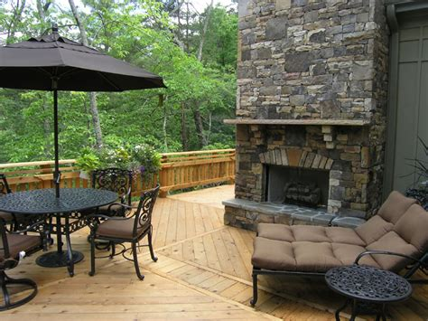 Outdoor Gas Fireplaces For Decks by Residential Decks Eagle Fencing