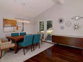 Mid Century Modern Dining Room White Midcentury Modern Dining Room Hgtv