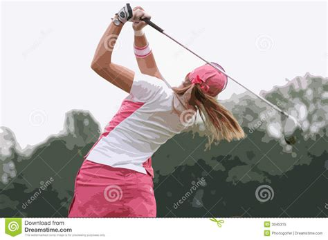 lady swings lady golf swing stock image image of estate swing