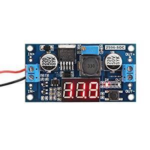 Module Dc Dc Step Buck Converter 2a Lm2596 Dengan Led Display drok lm2596 analog buck converter dc dc step transformer voltage regulator module