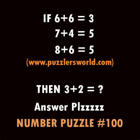 challenge  genius number puzzle  puzzlersworldcom